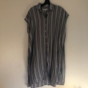 Madewell All New striped tunic shirt. Long.